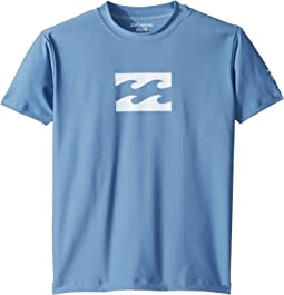 Billabong Kids - All Day Wave Loose Fit Short Sleeve Rashguard (Toddler/Little Kids/Big Kids)