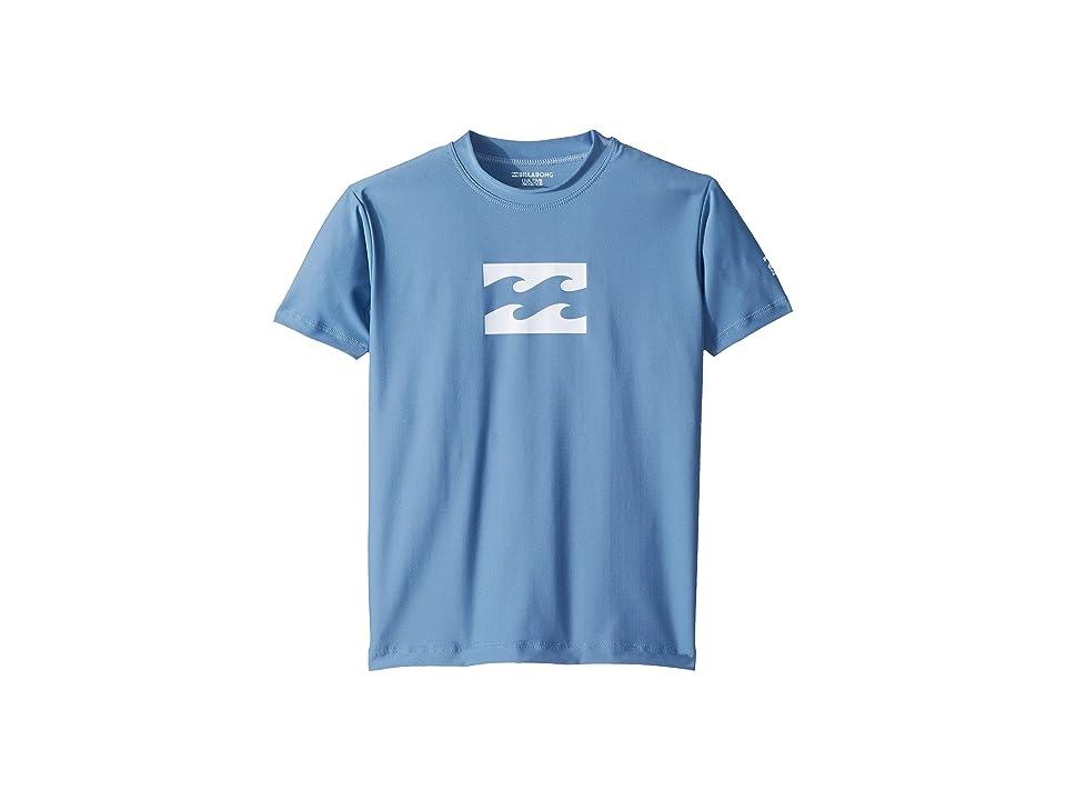 Billabong Kids All Day Wave Loose Fit Short Sleeve Rashguard (Toddler/Little Kids/Big Kids) (Blue Slate) Boy