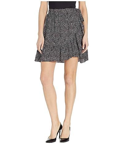 MICHAEL Michael Kors Reptile Wrap Skirt (White/Black) Women