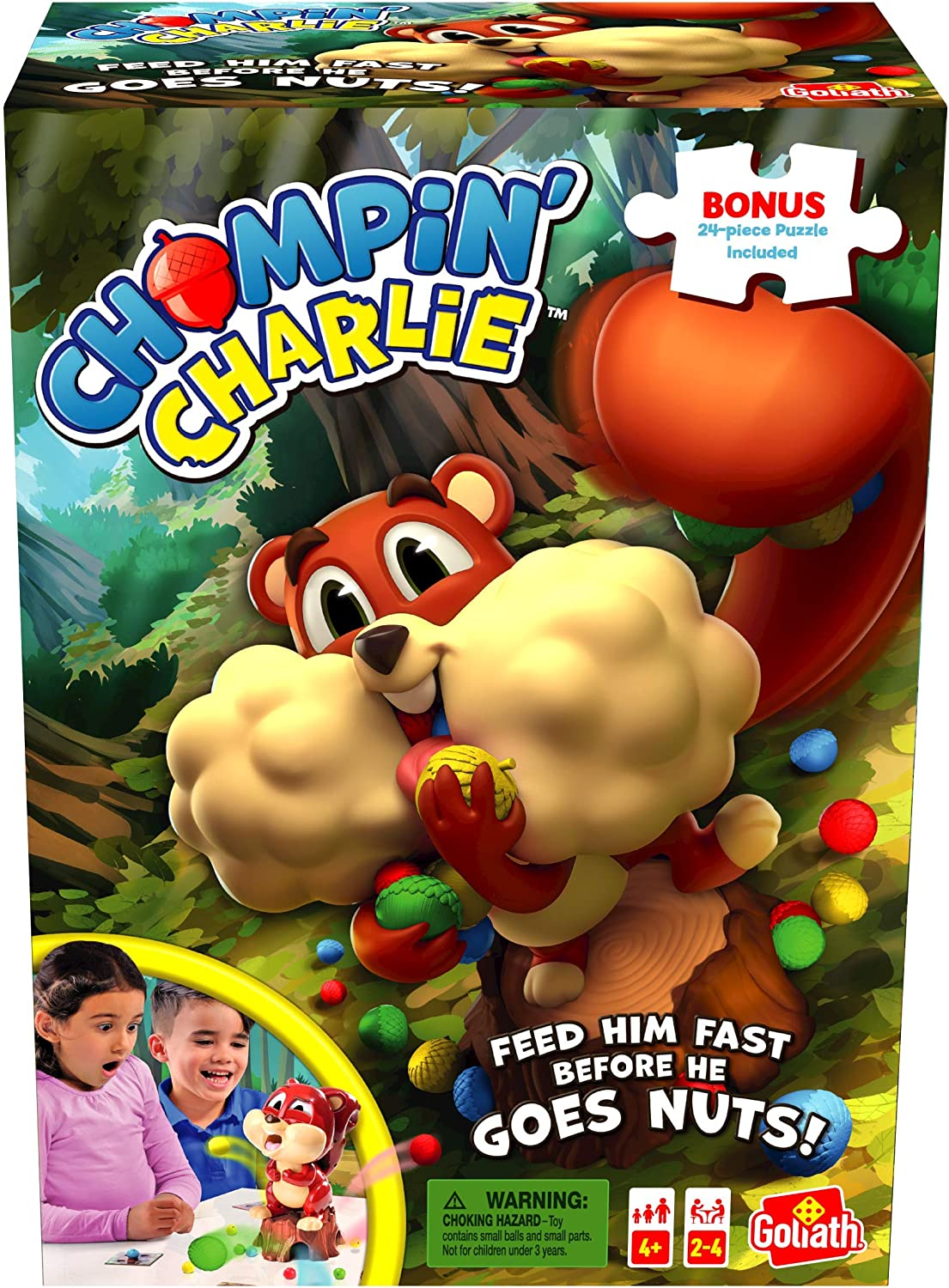Chompin' Charlie Game - Feed The Squirrel Col and Ranking TOP2 Max 80% OFF Race Acorns to