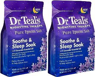 Dr Teal's Epsom Salt Bath Soaking Solution - Soothe & Sleep (Lavender) - 4 lb Bags Pack of 2