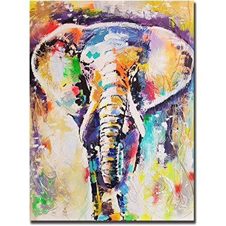 Watercolor Elephant Love high quality painting Canvas Print wall art home decor