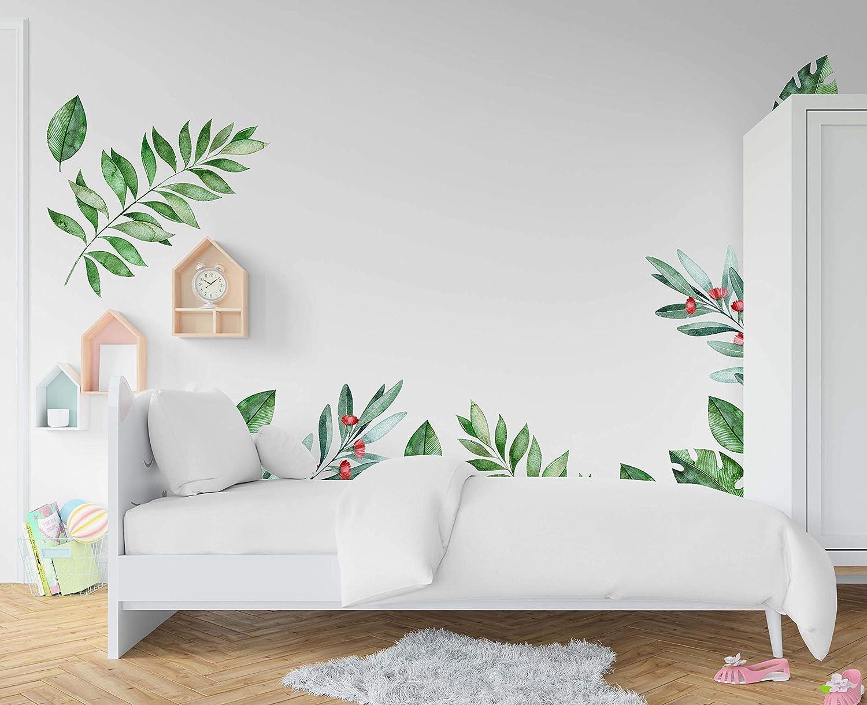 Finally popular brand Vegetation Space Wall Very popular Decal Decor Nurs Vinyl Watercolour Sticker
