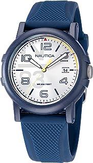 Nautica Men's Quartz Silicone Strap, Blue, 20 Casual Watch (Model: NAPEPF113)