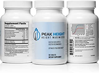 1 Grow Taller Height Pill Supplement-Peak Height 6 Month Supply-Height Supplement-Doctor Recommended, 90 tablets( pack of 6)