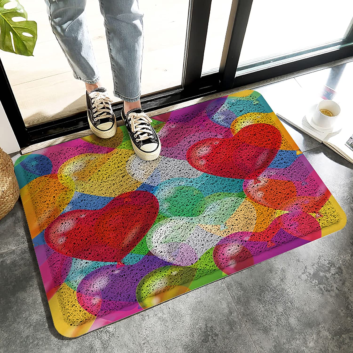 LBHAUSE Entrance Bombing new Reservation work Doormat Indoor Wire Mats Colorful Ba Ring Foot
