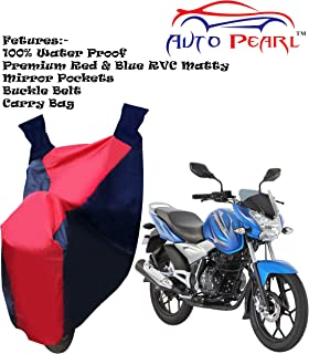 100% Water Proof PVC Bike Body Cover with Mirror Pockets, Buckle Belt, Carry Bag - Bajaj Discover 125