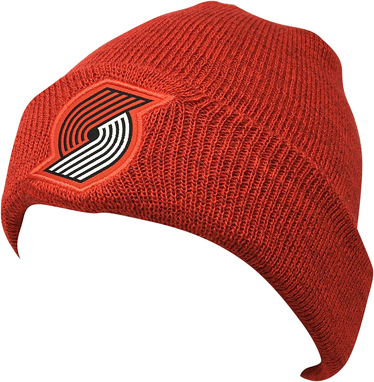 Nike Portland Trail Blazers Hat, Cap Beanie AA6136 Red (One Size)