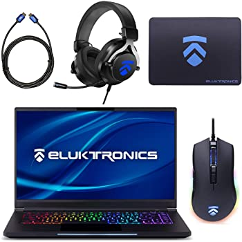 "Eluktronics MAG-15 Slim & Ultra Light NVIDIA GeForce GTX 1660Ti Gaming Laptop with Mechanical RGB Keyboard - Intel i7-9750H CPU 6GB GDDR6 VR Ready GPU 15.6"" 144Hz Full HD IPS 512GB NVMe SSD + 16GB RAM"