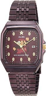 [セイコーウォッチ] 腕時計 アルバ スーパーマリオ コラボレーションモデル 角型 ファミコンデザイン ボルドー文字盤 日常生活用強化防水(10気圧) ACCK420 ブラウン
