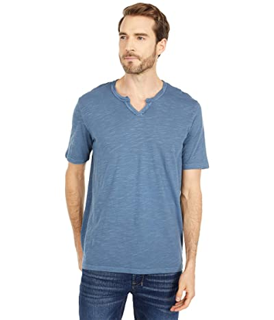 Mod-o-doc Topanga Short Sleeve Notch V-Neck Tee (Smokey Blue) Men