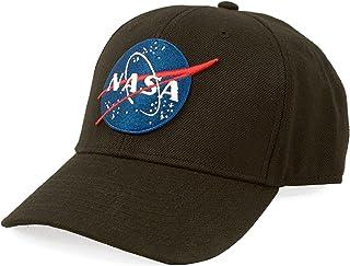 Tee Luv NASA Hat - Embroidered NASA Round Logo Baseball Cap Black