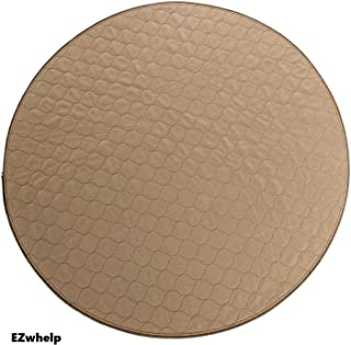 EZwhelp (Round, Circular Shape Machine Washable, Reusable Pee Pad/Quilted, Fast Absorbing Dog Whelping Pad/Waterproof Puppy Training Pad/Housebreaking Absorption Pads