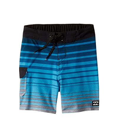 Billabong Kids All Day Stripe Pro Boardshorts (Toddler/Little Kids) (Blue) Boy