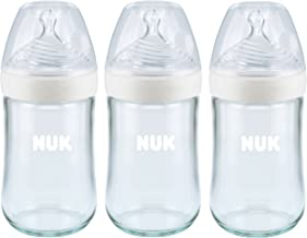 NUK Simply Nautral Glass Baby Bottle, Clear, 8oz 3pk