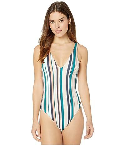 Roxy Milady Sand Fashion One-Piece Swimsuit (Mood Indigo Soul Stripes) Women