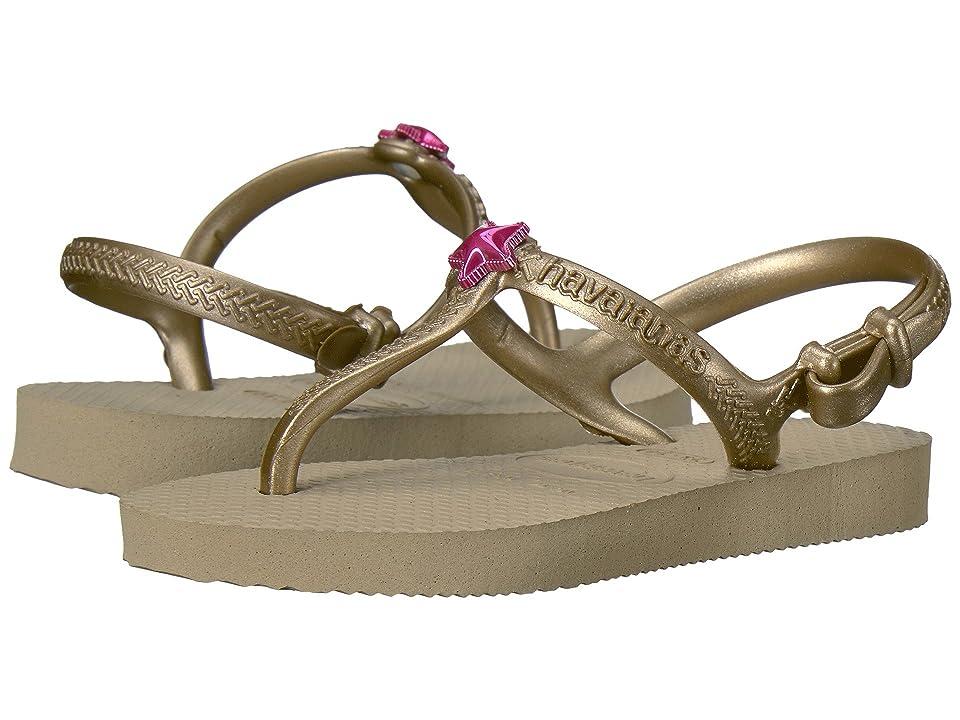 Havaianas Kids Freedom Sandals (Toddler/Little Kid/Big Kid) (Sandy Gold) Girls Shoes