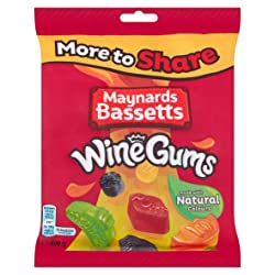 Maynards Bassetts Wine Gums Sweets Bag, 400 g