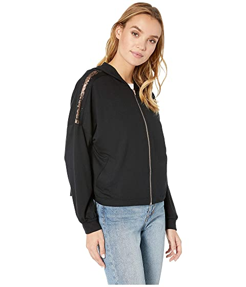 Splendid Womens Studio Rose Gold Stripe Batwing Zip-Up Jacket