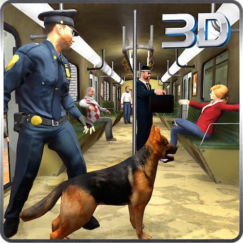 Polizeihund Jagd Verbrechen Stadt U-Bahn Kriminalfall 3D: Cops gegen Räuber Escape Survival Mission Adventure Simulator Spiele Kostenlos für Kinder 2018