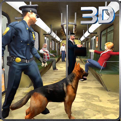 Chien de police Hunt Crime City Subway Criminal Case 3D: Cops Vs Robbers échapper à la mission de survie Jeux d'aventure Simulator Gratuit pour les enfants 2018