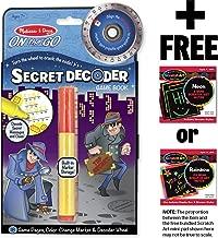Melissa & Doug Secret Decoder Game Book: On-The-Go Series & 1 Scratch Art Mini-Pad Bundle (05248)