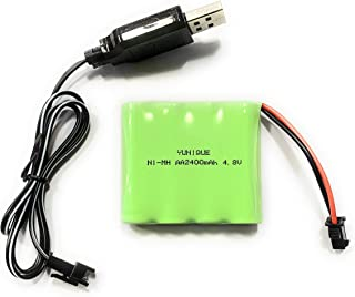WE-WHLL Cable de Carga Bater/ía Cargador USB Paquete de bater/ías Ni-CD Ni-MH Adaptador de Enchufe SM-2P 4.8V 250mA Salida Juguetes Coche
