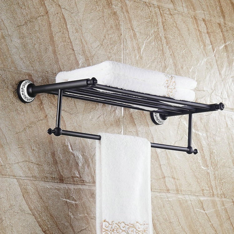 Bathroom Shower Shelf Towel Rail Oil Rubbed Bronze Bathroom Fixture ,Hiendure