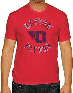Original Retro Brand NCAA Dayton Flyers Men's Victory Vintage Tee, XX-Large, Red