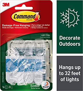 Command 4-packages of Outdoor Light Clips, Hang Lights Damage-Free (17017CLR-AWES)