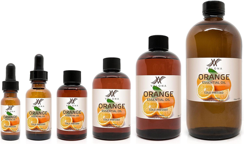 Orange Essential Oil お買得 超目玉 by Velona - Therapeutic A Grade 24 for oz