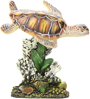Penn Plax (RR1104) Swimming Sea Turtle Aquarium Decoration, Small