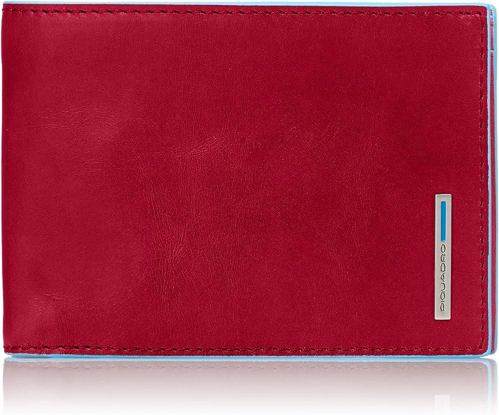Piquadro, portafoglio, collezione blu , in vera pelle PU257B2