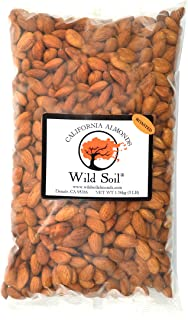 Wild Soil Almonds - Distinct and Superior to Organic, Probiotic, Unsalted, Roasted 3LB Bag