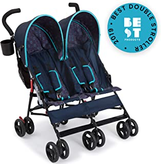 Delta Children LX Side by Side Stroller, Night Sky
