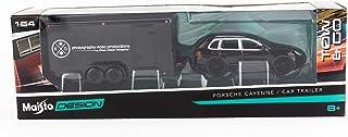 1:64 Scale - Design Tow & Go - Porsche Cayenne & Car Trailer - Black