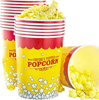 Premium Leak-Free 32 Oz Disposable Popcorn Cup 25pk By Avant Grub. Stackable Buckets With Fun Design. Great For Concession Stands, Carnivals, Fundraisers, School Events, Or Family Movie Nights.