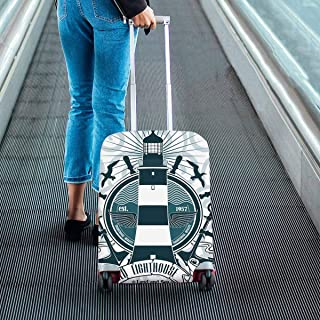 Nautical theme Suitcase Protectors lighthouse and anchors Travel Luggage Covers Fit 18-28 Inch Luggage
