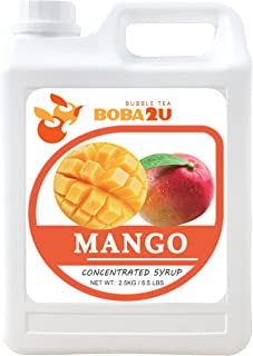 BOBA2U CONCENTRATED SYRUP MANGO 5.5 LBS