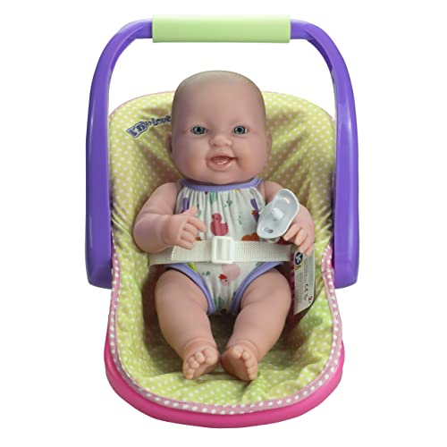 """03923213a JC TOYS LOTS TO LOVE BABY DOLL IN ADJUSTABLE CARRIER - Featuring 14"""" all  Vinyl"""
