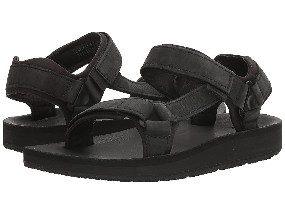 Teva Original Universal Premier - Leather (Midnight Black) Women's Shoes