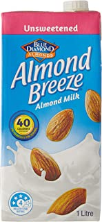 Almond Breeze Unsweetened Almond Milk, 1L (Pack of 8)