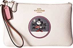 Boxed Minnie Mouse Small Wristlet With Patches ©Disney x COACH