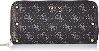 GUESS Womens Large Zip Around Purse, Coal - SG743746