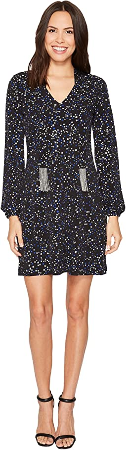 MICHAEL Michael Kors - Star Foil Tie Long Sleeve Dress
