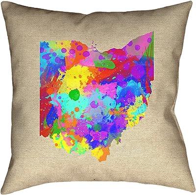 ArtVerse Katelyn Smith 20 x 20 Poly Twill Double Sided Print with Concealed Zipper /& Insert Nebraska Love Pillow