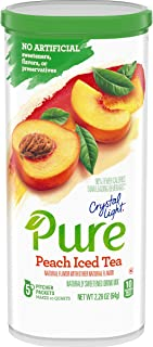 Sponsored Ad - Crystal Light Pure Peach Iced Tea Drink Mix (5 Pitcher Packets)