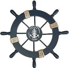 WEBI Ship Wheel Wall Decor,Nautical Wooden Rustic Boat Ship Steering Wheel Decor for Beach Party Wedding Decorations