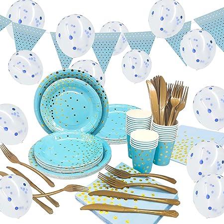 Confezione da 16 tovaglioli di carta per 18/° compleanno Blu colore Unique Party 57468