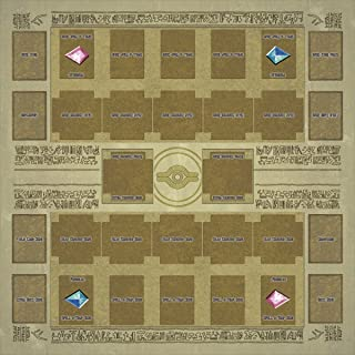 TOY-GTO Yu-gi-oh Card Rubber Play Mat Egypt Mural Style Type (for Competition) 60 × 60 cm Size 2mm Link Summon Corresponde...